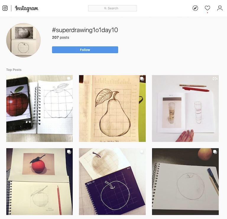 Super Drawing Day 10 Instagram Posts